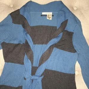 DKNY striped sweater with braided detail